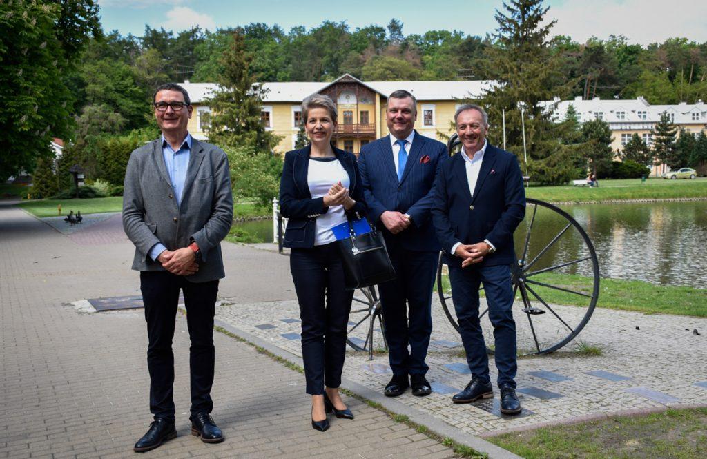Wizyta Aliny Nowak, podsekretarz stanu MRPiPS, w Uzdrowisku Nałęczów