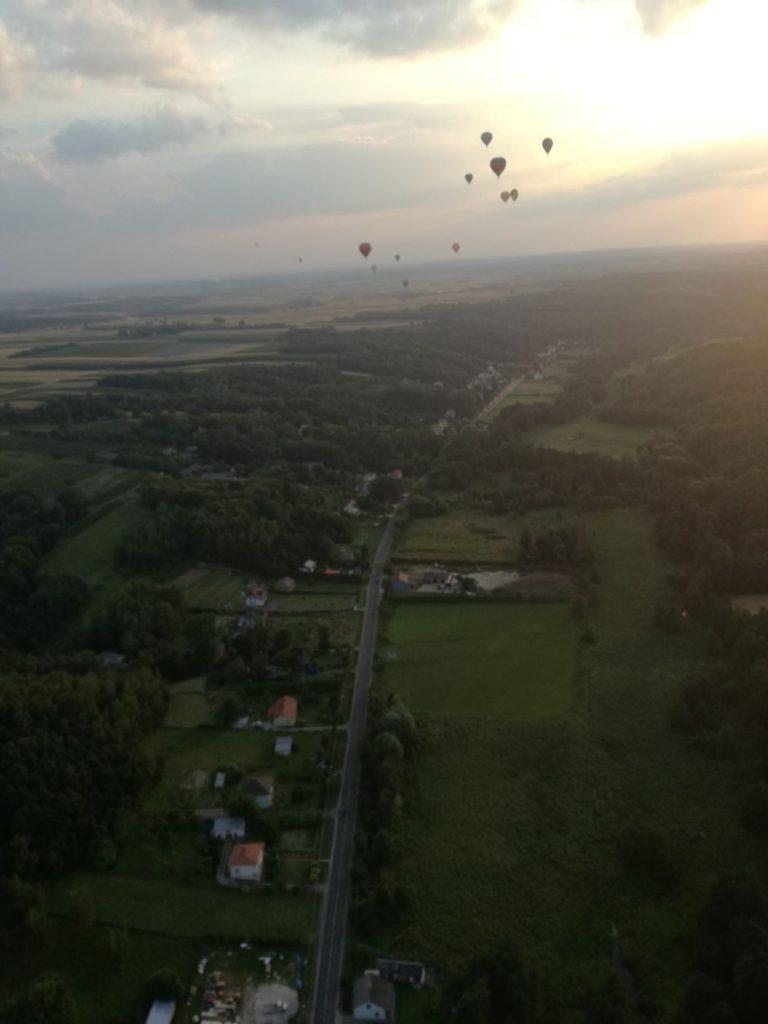 Lot balonem - konkurs Uzdrowiska Nałęczów